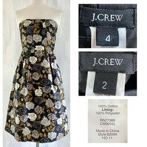 J. CREW Floral MARIELLA Dress with Pockets